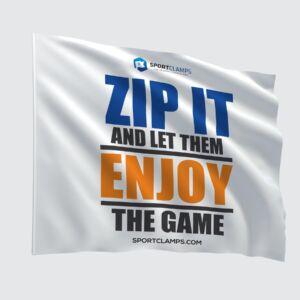 Zip it flag