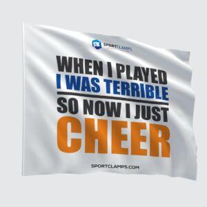 I just cheer flag